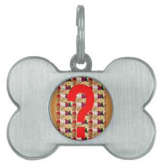 QUESTION NOW N question EVERYING attitude GIFTS Pet Name Tag