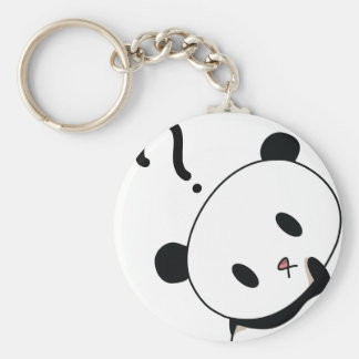 question time panda basic round button key ring