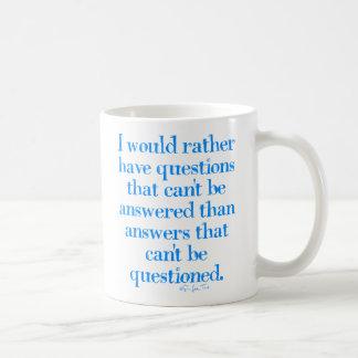 Questions and Answers Coffee Mug