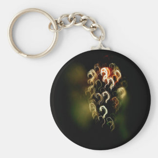 questions basic round button key ring