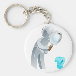 Questions concept keychains