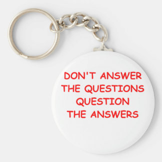questions keychains