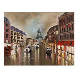 Quet rainy street postcard