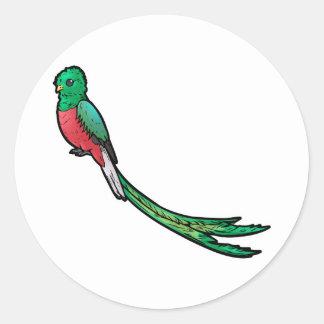 Quetzal Classic Round Sticker