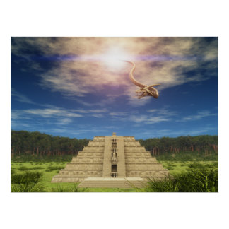 Quetzalcoatl Descending 002 Poster
