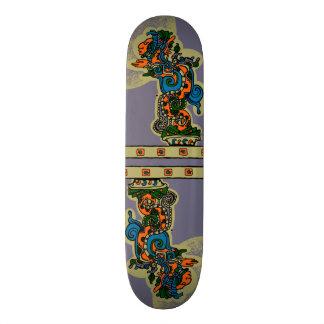 Quetzalcoatl. Tribal Aztec Skate Board Deck