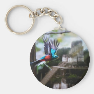 Quetzel in Tikal Key Ring