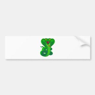 Queue Kobra snake cobra Bumper Sticker