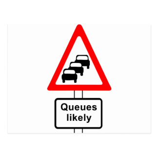 Queues Likely Symbol Postcard
