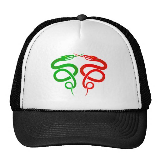 Queues of snakes mesh hats