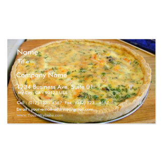 Quiche Pie Crust Cooking Food Dinner Business Card Template