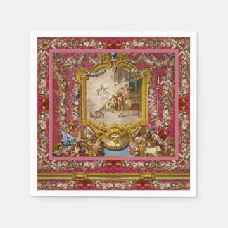 Quichotte Girly Baroque Old World French Classic Disposable Napkin