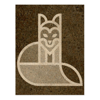 Quick Brown Fox Art Design Postcard