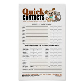 Quick Contacts Poster