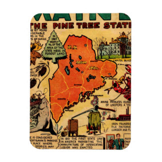 Quick Facts About Maine Rectangular Magnet