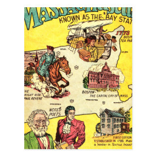 Quick Facts About Massachusetts Postcard