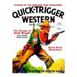 Quick Trigger Western Postcard
