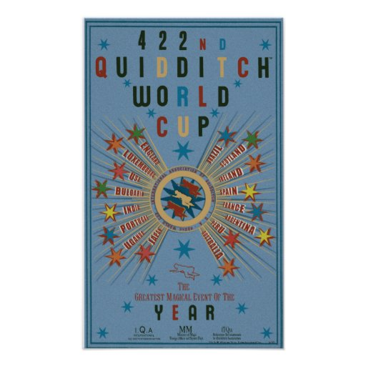 Quidditch World Cup Blue Poster | Zazzle