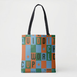 QUIDDITCH™ World Cup Checkerboard Poster Tote Bag