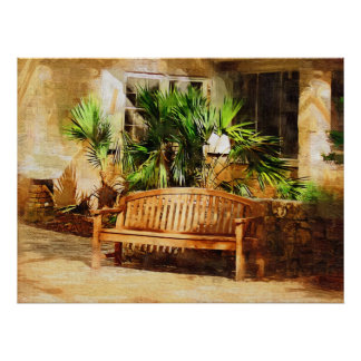 Quiet afternoon in the garden, Tropical Collection Print