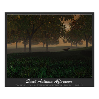 Quiet Autum Afternoon Poster