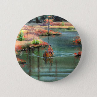 QUIET CANOE by SHARON SHARPE 6 Cm Round Badge