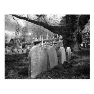 quiet cemetery post card