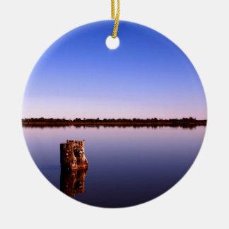 Quiet Lake Ceramic Ornament