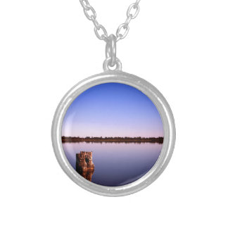 Quiet Lake Silver Plated Necklace