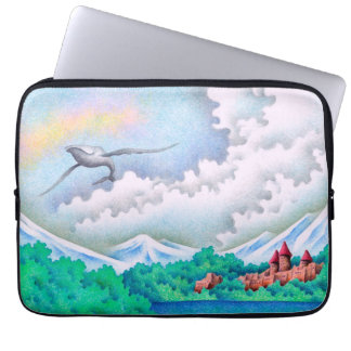 Quiet lakeside laptop sleeve
