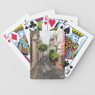 Quiet Little Street of Puerto Rico Bicycle Playing Cards
