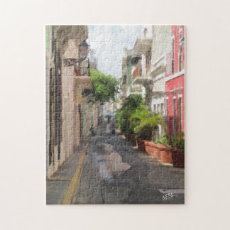 Quiet Little Street of Puerto Rico Jigsaw Puzzle