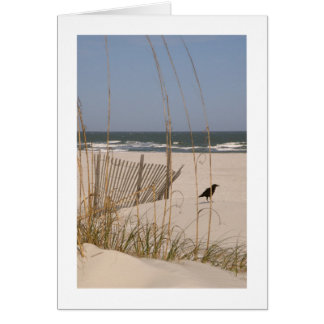 Quiet Moment on a Hilton Head Beach Card
