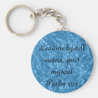 Quiet my soul bible verse Psalm 23:2 key chain