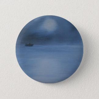 quiet ocean night alone 6 cm round badge