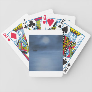 quiet ocean night alone bicycle playing cards
