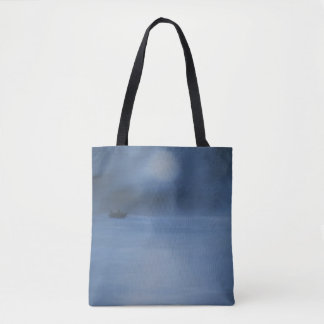 quiet ocean night alone tote