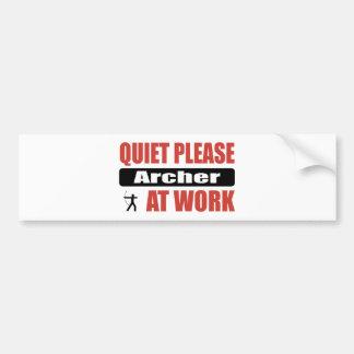Quiet Please Archer At Work Bumper Sticker