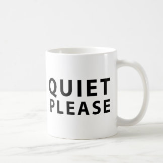 Quiet Please Basic White Mug