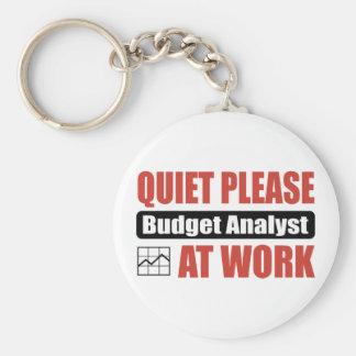 Quiet Please Budget Analyst At Work Key Chain