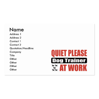 Quiet Please Dog Trainer At Work Business Card Templates