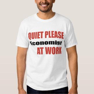 Quiet Please Economist At Work Tshirt