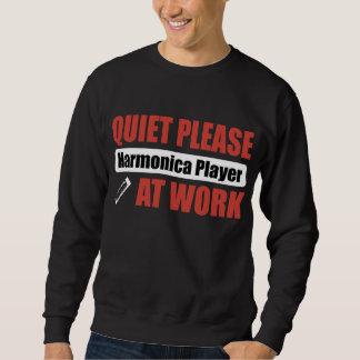 Quiet Please Harmonica Player At Work Sweatshirt