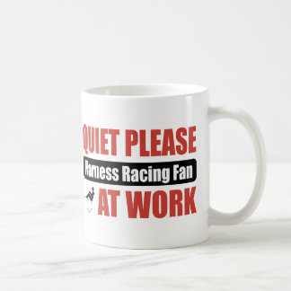 Quiet Please Harness Racing Fan At Work Basic White Mug