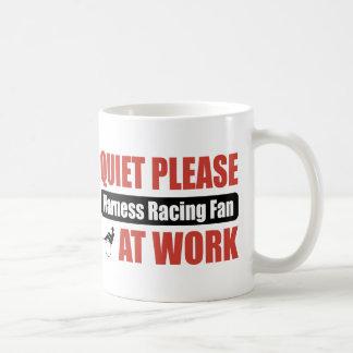 Quiet Please Harness Racing Fan At Work Coffee Mug