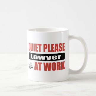 Quiet Please Lawyer At Work Coffee Mug