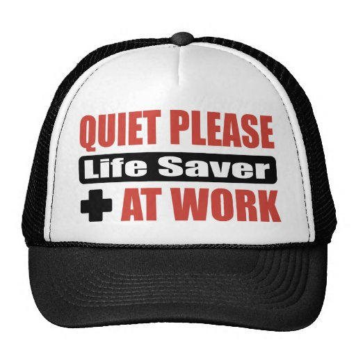 Quiet Please Life Saver At Work Mesh Hats