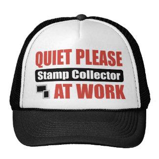 Quiet Please Stamp Collector At Work Hat