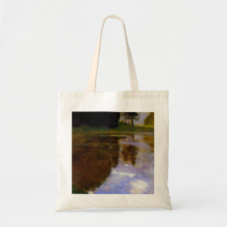 Quiet pond in the park of Appeal by Gustav Klimt Bags