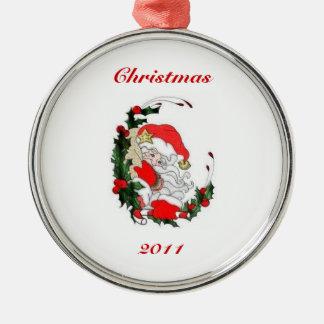 Quiet Santa Christmas Ornament 2011